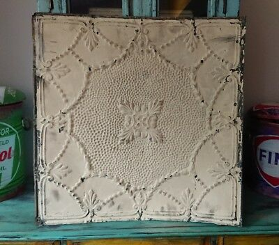 architectural antique salvaged American tin ceiling tile Ohio 1898-1901 large