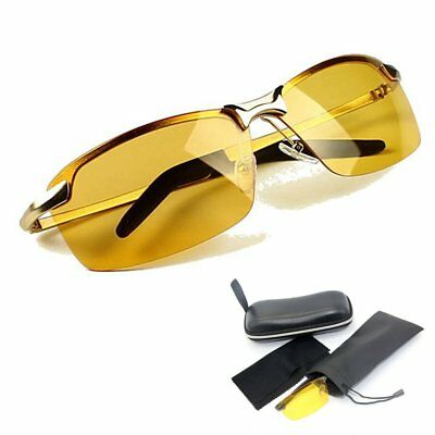 Night Driving Glasses HD Anti Glare Vision Prevention Yellow Lens Tinted Unisex