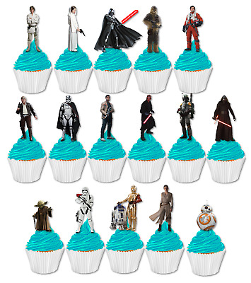 Star Wars premium stand up edible cupcake cake toppers birthday images