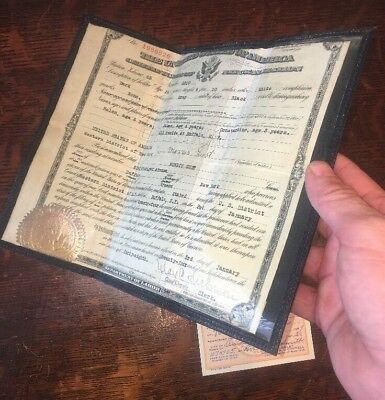 Vintage 1920s US Naturalization Citizenship Papers Greek Immigrant Morris Gust