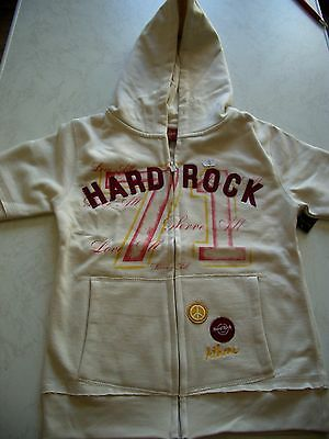 HRC Hard Rock Cafe Athen Athens Short Hoody Youth S 152-158 Girls NWT New Girls