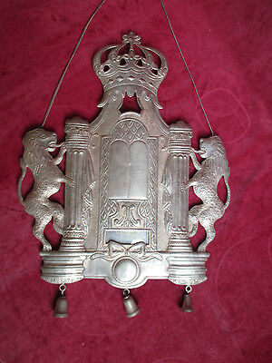 antike massiv Silver Torah Shield Tass Silber Tora antigue judaica 925 800 plate