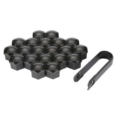 20x/Set 17mm Car plastic Wheel Nuts Cover Bolt Caps w/ Removal Tools for VW AUDI