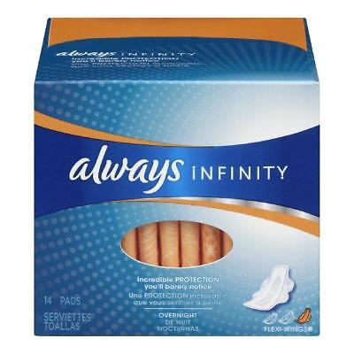 Always Infinity Pads with Wings, Unscented, 14 Count