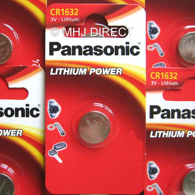 2 x PANASONIC CR1632 CR 1632 ECR1632 Lithium Batteries Coin Cell Use By 2028