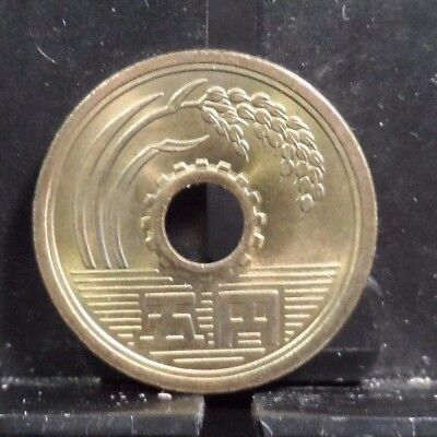 Circulated Yr.?  5 Yen Japanese Coin (112117)1.....free Shipping!!!!!
