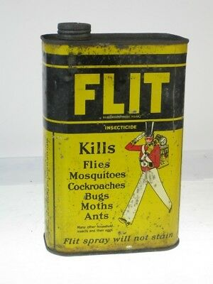 27447 Old Vintage Antique Tin Advert Sign Garden Insect Spray Insecticide Flit