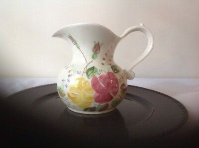 "Blue Ridge Pottery China Pitcher ""sally"" Ida Rose Floral Vintage"