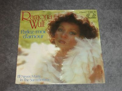 """7"""" Ramona Wulf: Parlez-Moi D´amour / I´ll Never Marry In The Summertime Jupiter"""