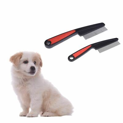 Pet Dog Comb Remove Fleas Lice Stainless steel Comb Dog Cat Hair Grooming Tool f