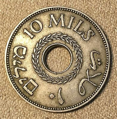 Palestina 10 Mils 1939 Nickel Km-4 Nice Grade And Low Mintage Scarce Issue