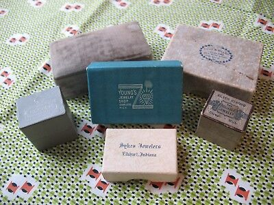 LOT of SIX ANTIQUE JEWELRY BOXES Store Display from MICHIGAN Indiana ILLINOIS