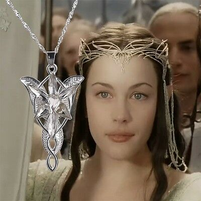 Lord of the Rings 40.6cm Silber Kristall Arwen's Evenstar Elf Prinzessin