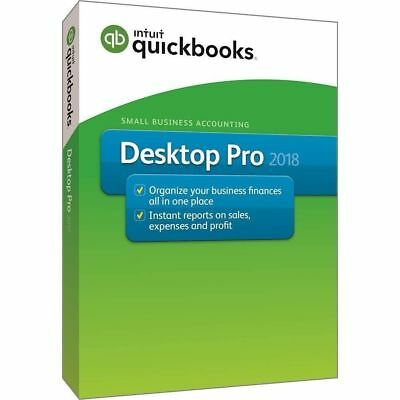 Genuine Intuit QuickBooks Pro Software 2018 Release - 1 user with CD & Download