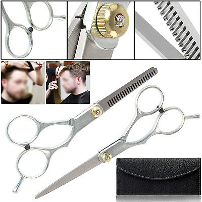 Professional Barber Hair Cutting Thinning Scissors Shears Set Salon Hairdressing
