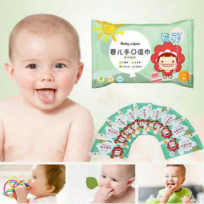 10Pcs Portable Outdoor Stroller Clean Kids Children Baby Wipe Wet Wipes