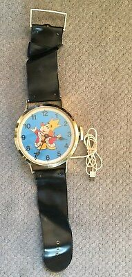 Vintage Burger King Wall Clock Giant Watch 1970's Animated Old King Works!
