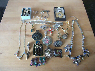 Job Lot of Mixed Costume Jewellery Vintage & Recent including some Scrap Silver