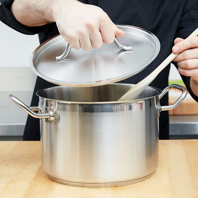 8 Qt. Heavy-Duty Stainless Steel Restaurant Kitchen Stock Pot with Lid Cover