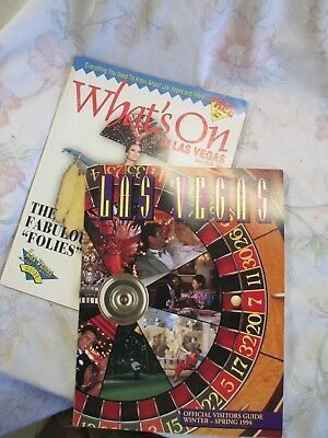 Vintage Las Vegas Visitor Guides lot of 2/ 1994
