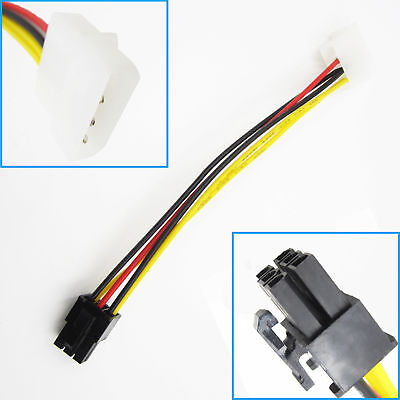 1PCS PCI-E Graphic Card Single 4Pin to 6Pin Power Connector Cable Adapter NEW