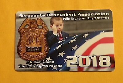 NYC SBA PBA Sergeant Card 2018  *Collectible*