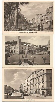 Lot of 6 Licata Sicily Italy Postcards, street people buildings, castle