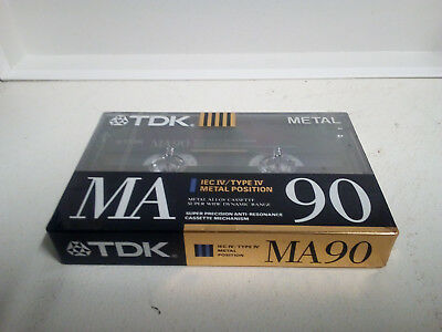 TDK MA90 (Type IV) Blank Metal Audio Cassette Tape (Made in Germany) ©1990