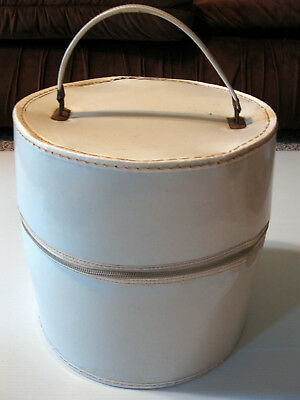 Vintage White Hat Wig Box