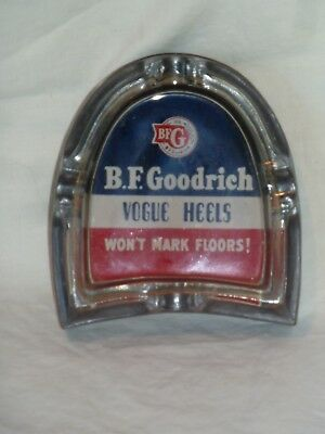 Vintage B.F. Goodrich Advertising Shoe Rubber Heel Ashtray (Oil, Gas)