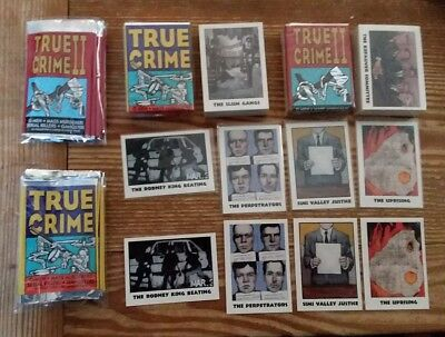 1992 ECLIPSE TRUE CRIME COMPLETE 220 Trading Card Set +2 SUB SETS & 10 wrappers