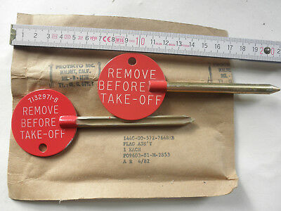 Tornado F3  F4 Flag Assy REMOVE BEFORE  TAKE OFF