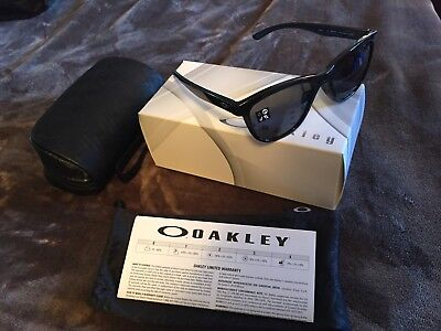 BRAND NEW Women's Oakley Sunglasses - Moonlighter Black w/ Grey Lens