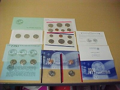 1979-1980-1981-1999 Complete Susan B Anthony Brilliant Uncirculated Ogp Sets !!