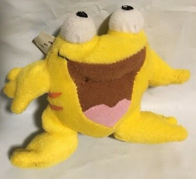 NEOPETS~Yellow QUIGGLE Frog~Tush Tag Attached~Mini Plush