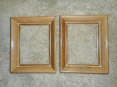 Matching Pair of Mid-Century Oak Frames to fit 6-1/2 x 8-1/2