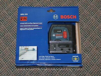 NEW Bosch GPL 5 R - 5 Point Self-Leveling Alignment Laser FAST FREE SHIPPING