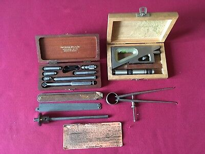 Lot of 5 MACHINIST TOOLS, STARRETT, B & S, LUFKIN, etc.
