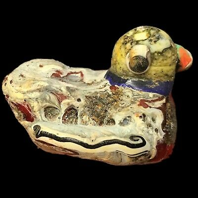 Very Rare Phoenician Glass Bird Bead 300Bc Super Quality (Very Large Size) (2)