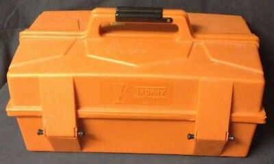 Vintage Sears & Roebuck Trophy taskmaster Tackle Box + Tackle  Mitchell Spool