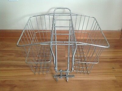 Vintage Metal Wire Bicycle Bike Saddle Bag Basket