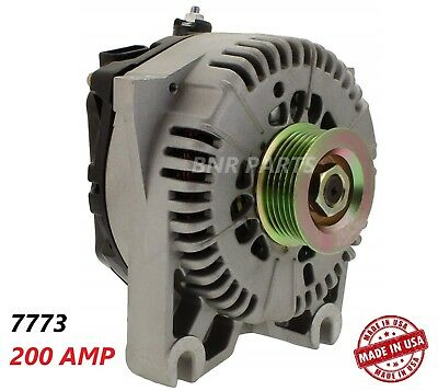 200 Amp 7773 Alternator Ford Lincoln Mercury High Output Performance HD USA