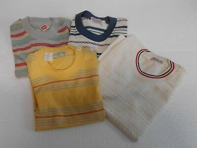 Lot 4 Four Vintage Boys Shirts Tops Sz 3, 5, and 6 Pullover Short Sleeve    9237