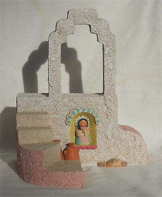 Friends of the Feather Amigos del Sol Ave Maria Music Box Pueblo Display Stand