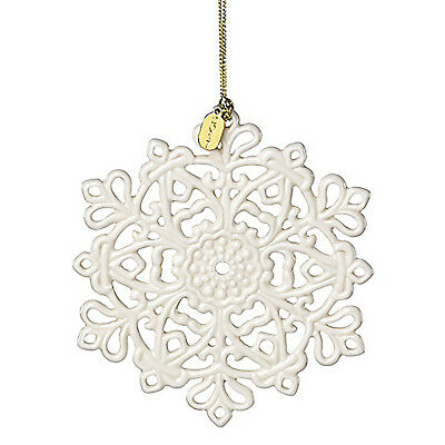 NIB Annual Lenox® 2017 Snow Fantasies™ Snowflake China Christmas Ornament