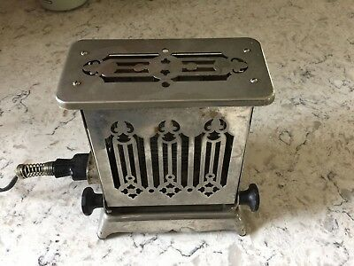 Vintage Antique Electric Hotpoint Art Deco Toaster Rare Works