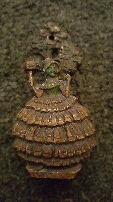 vintage brass Girl Esmeralda door knocker