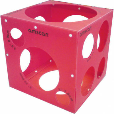 Amscan Balloon Sizer Box Ideal For Parties Shops Retail Balloon Sizing Cube New