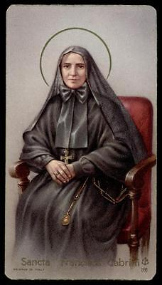 "santino-holy card""""ediz. FB n.166 S.FRANCESCA SAVERIO CABRINI"