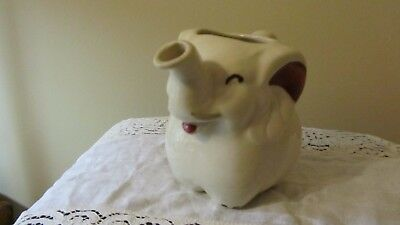 Shawnee Elephant Small Pitcher Marked Patented USA